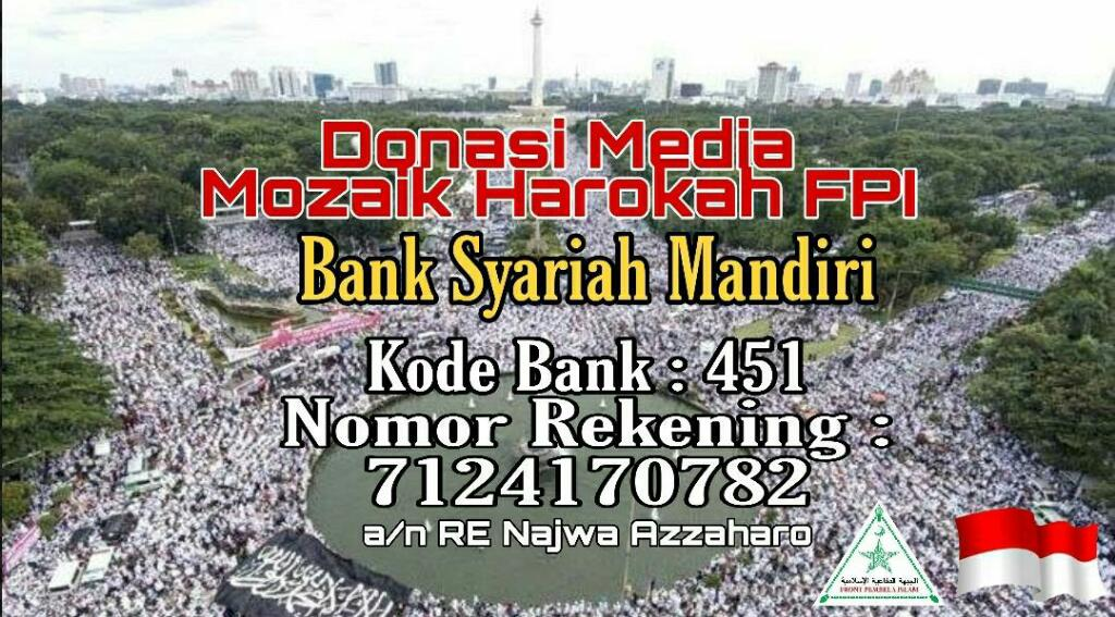Donasi Mozaik Harokah FPI