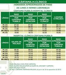 SERVICIO DE AUTOBUS AL CLINÍCO DESDE CÁRTAMA