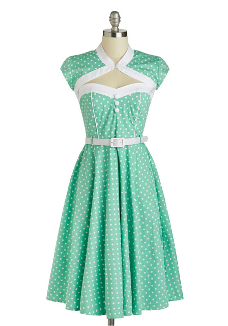 mod cloth soda shop sweetie dress via lexi derock at voluptuous vintage vixen