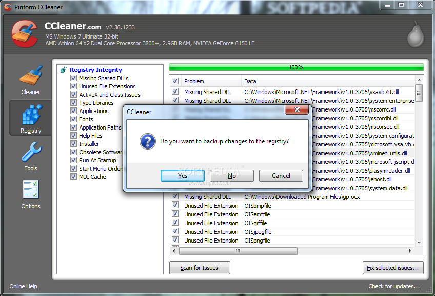 how to make free space woth ccleaner