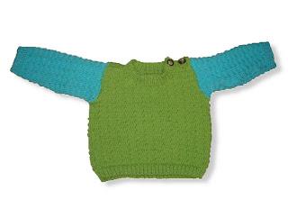 Vauvan neulottu villapaita ohje