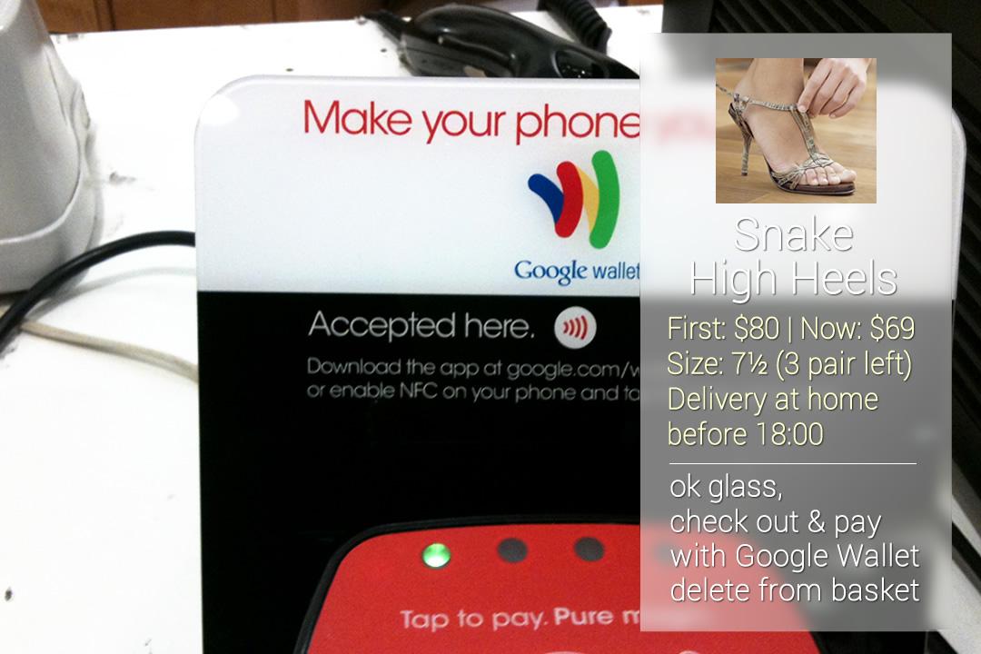 Online betalen in de winkel met Google Glass