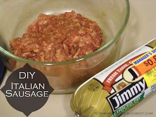 Make your own Italian sausage from plain pork sausage