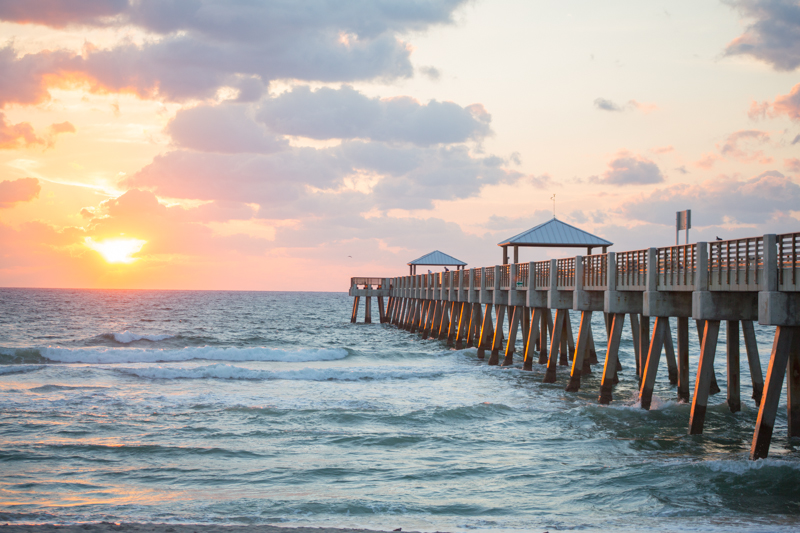 juno beach sunrise pier
