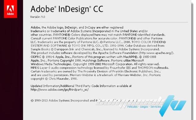 Adobe InDesign CC Versión 11.0.0.72 Español