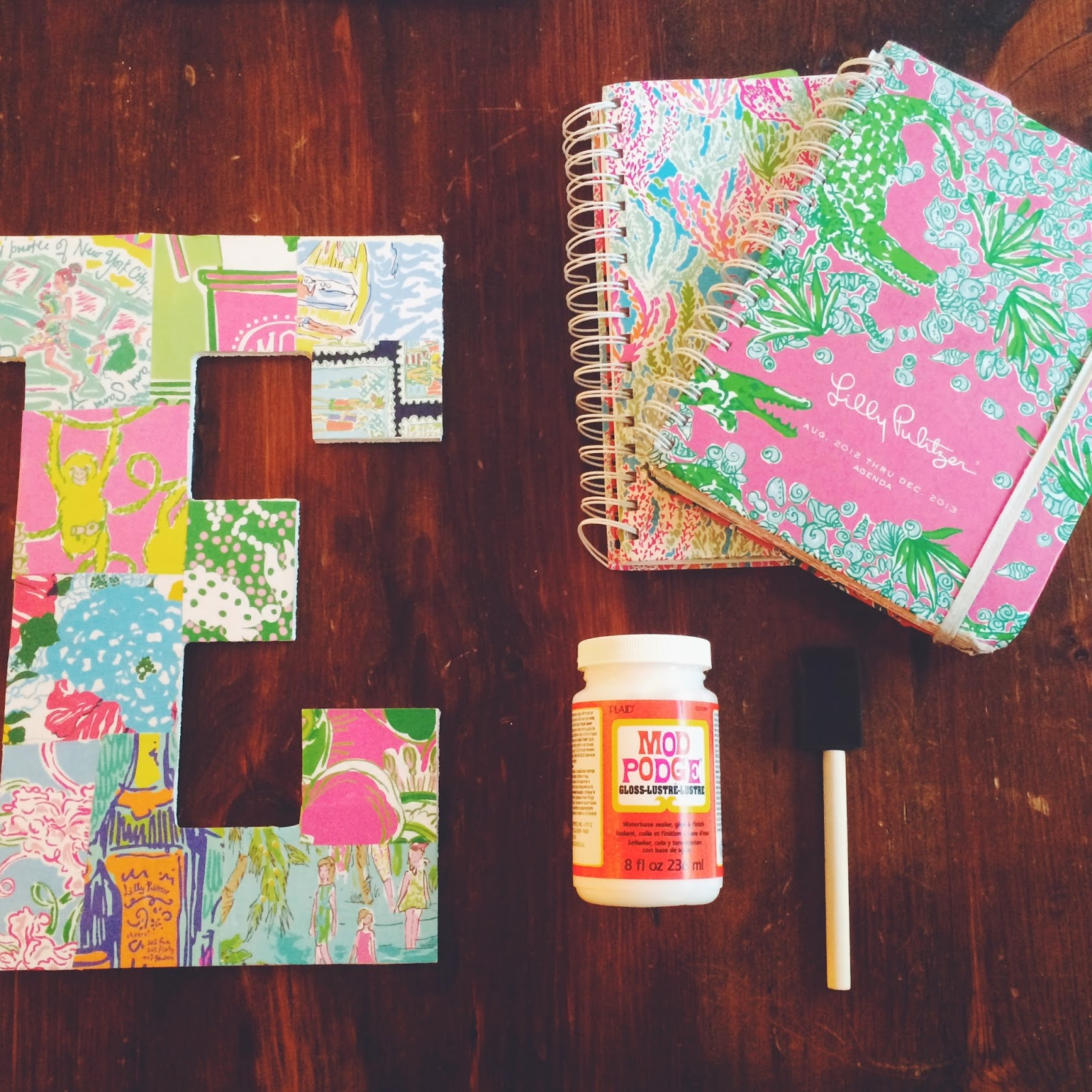 Dash of serendipity dorm diy 1 lilly pulitzer decor for Lilly d s craft supplies