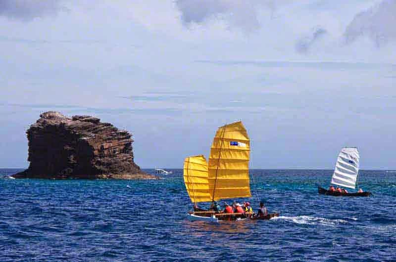 single and double sail sabani boats, racing
