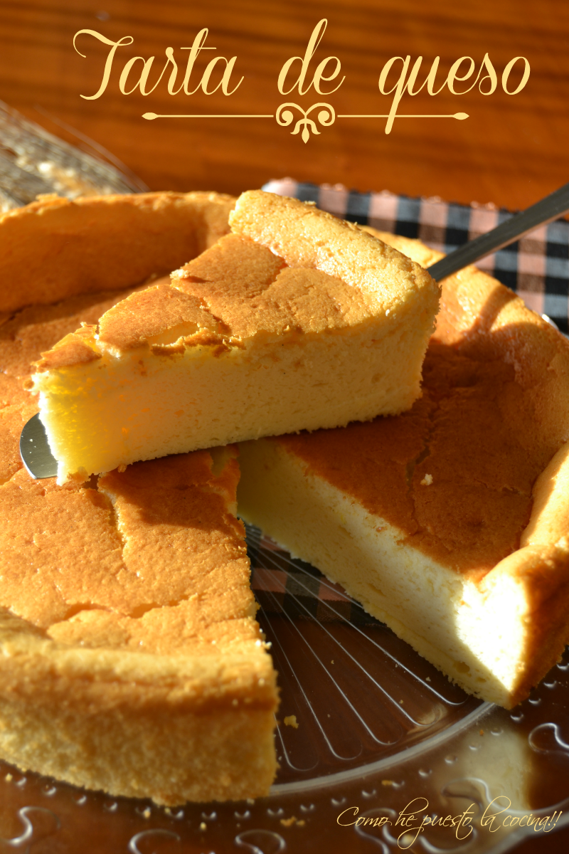 Tarta de queso abizcochada