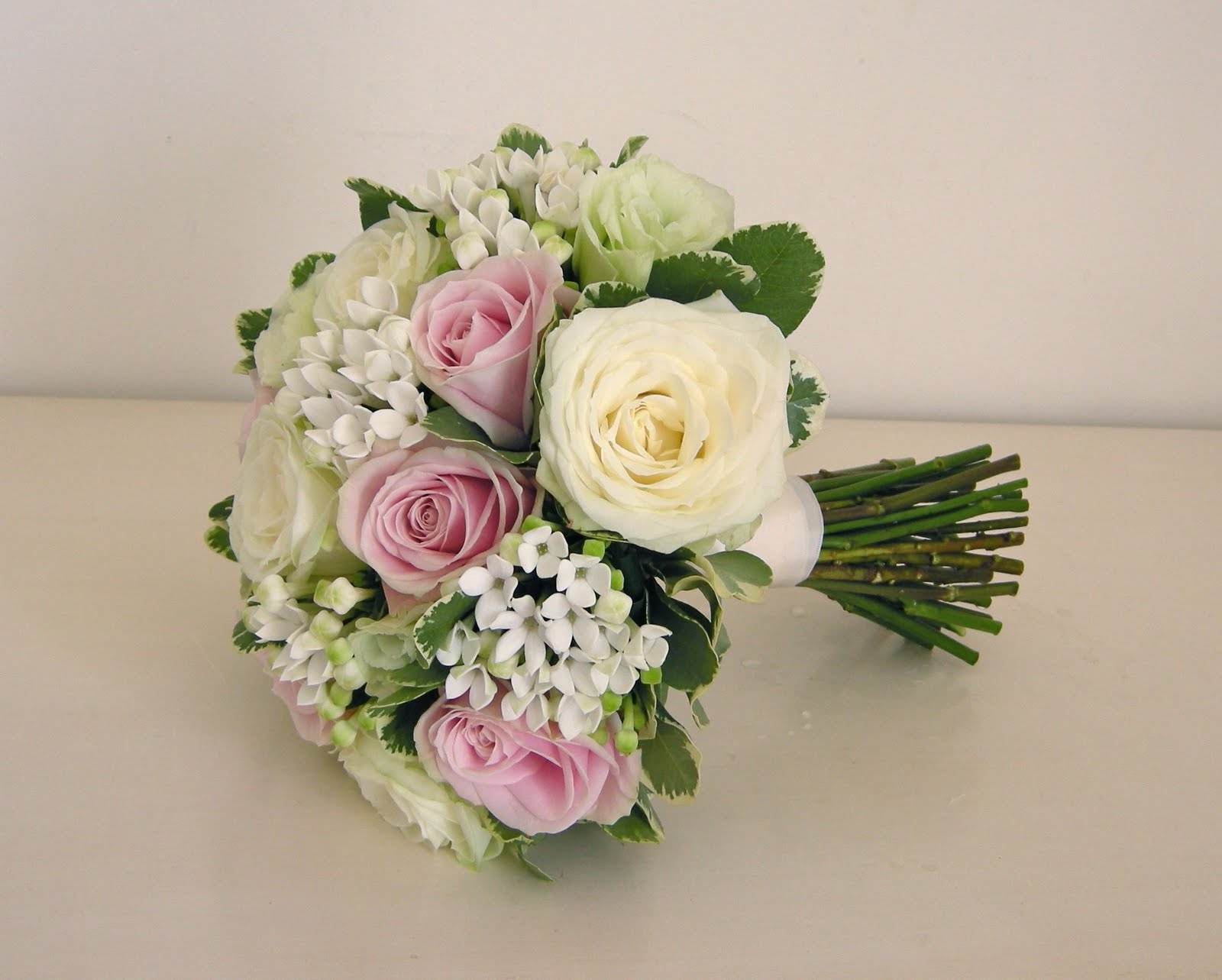 Bridal Bouquets Pink And White : Wedding flowers august
