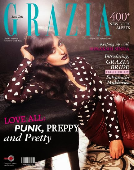 Sonakshi Sinha on Grazia Magazine's November 2013 Edition