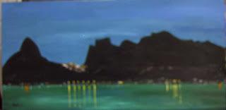 Clameli - Noturno Rio de Janeiro - acrílico s/ tela