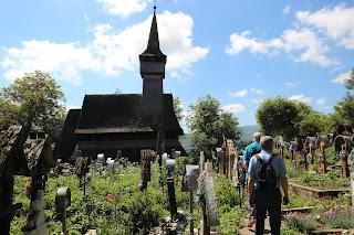 Houten kerk Ieud Maramures, Roemenië