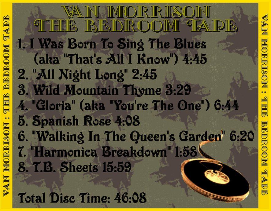 T U B E Van Morrison 1964 1967 The Bedroom Tape Stu