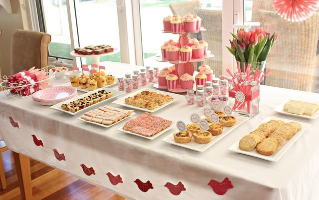 decoracao festa simples : decoracao festa simples:Baby Shower Table Setting Ideas