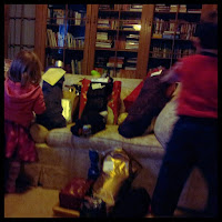 Christmas morning mayhem