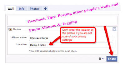 Facebook Tips: Posting other people's walls and Photo Albums & Tagging