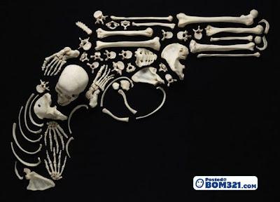 Seni Dari Tengkorak Dan Tulang Manusia