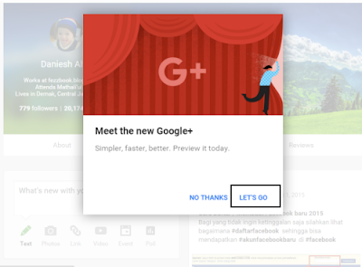 google plus tampilan baru