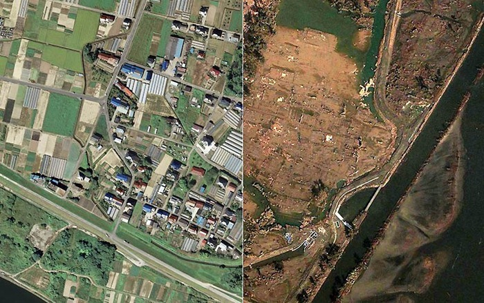 japan tsunami 2011 before and after. 2011 0 Before And After