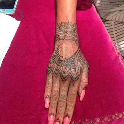 Rihann's Henna Inspired Hand Tattoo