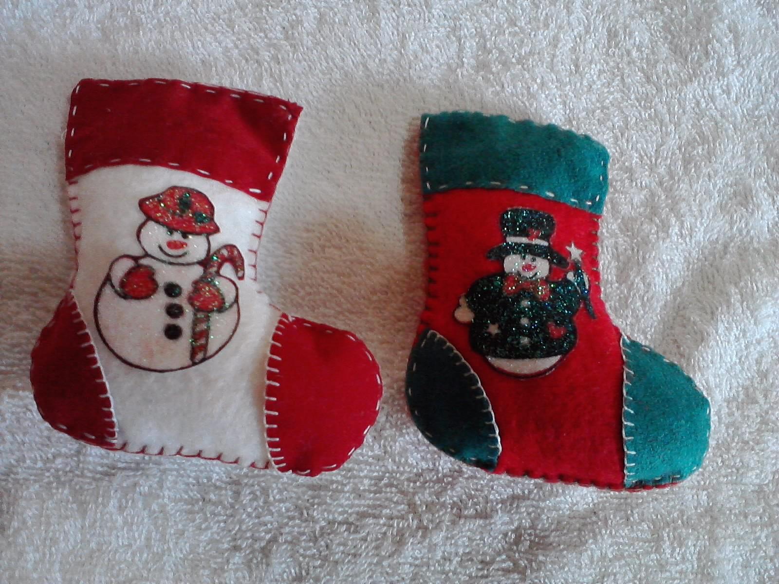 Manualidades y creaciones de gretti mini botas de navidad - Manualidades para navidades ...