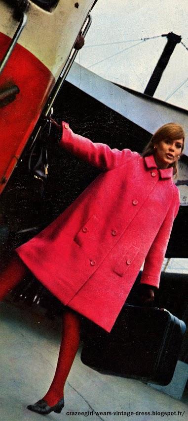 pink coat 1967 1968 1969 60s 1960 mod