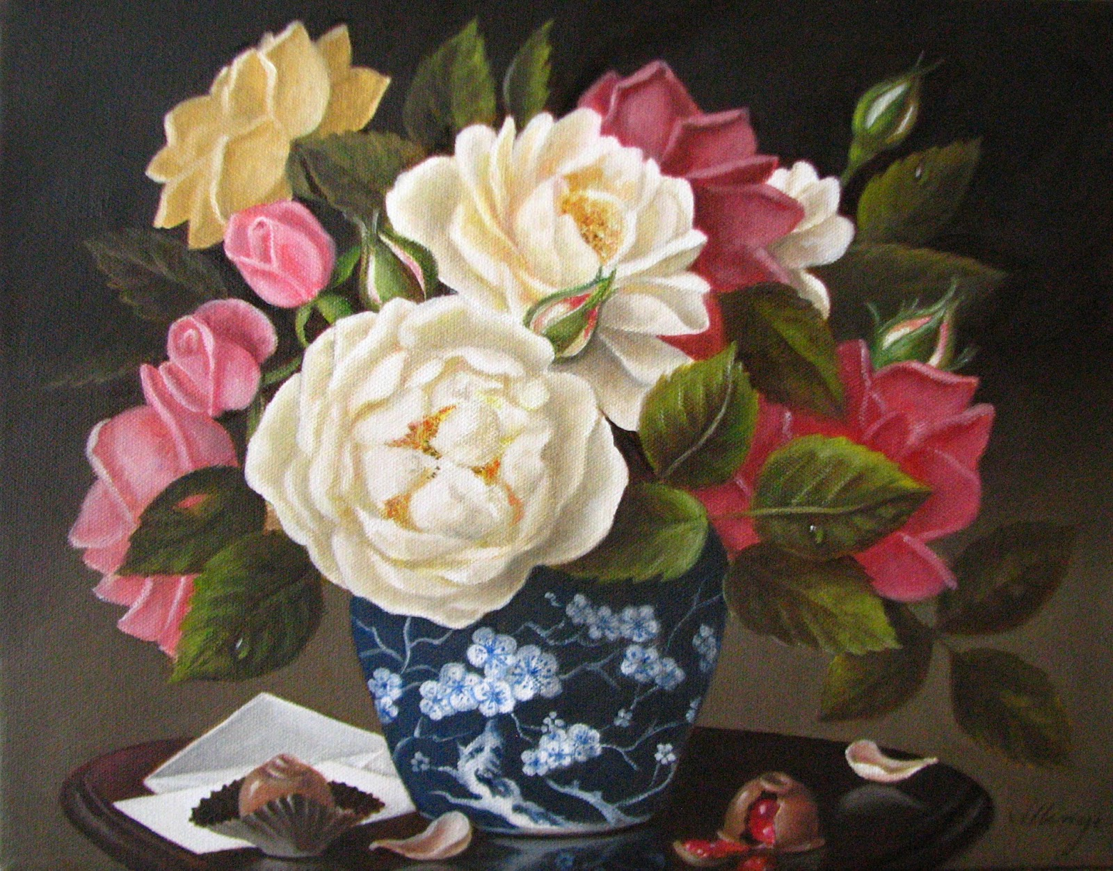 Jeanne Illenye Still Lifes Classical Floral Still Life