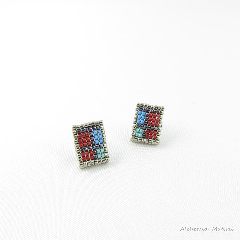 checkered earrings