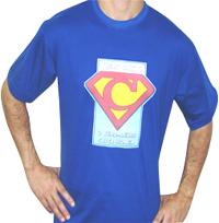 camiseta personalizada em transfer cor azul