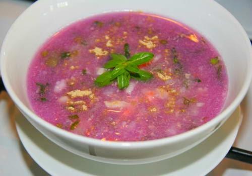 Vietnamese Purple Yam Soup - Canh khoai tím