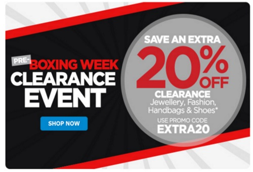 The Shopping Channel Pre-Boxing Week Clearance Event 20% Off Promo Code
