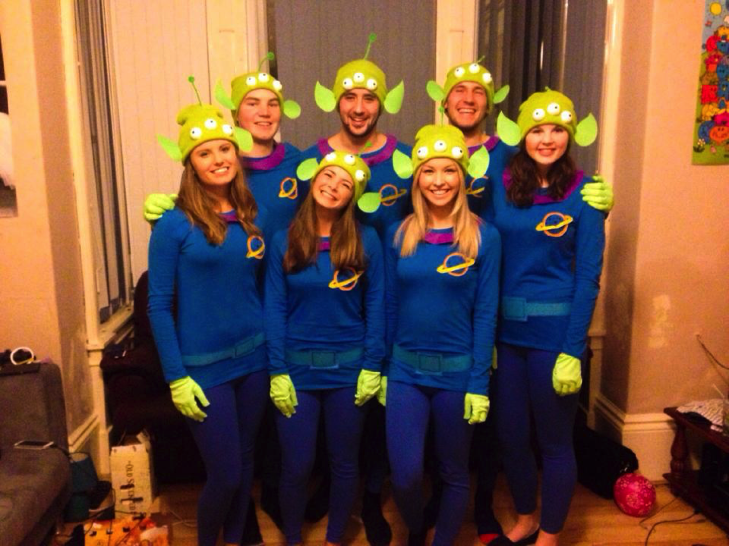 Disney pixar fancy dress group team costumes toy story little green aliens the claw DIY homemade  sc 1 st  Clothes and Stuff & DIY HOMEMADE TOY STORY ALIEN COSTUME | Clothes and Stuff
