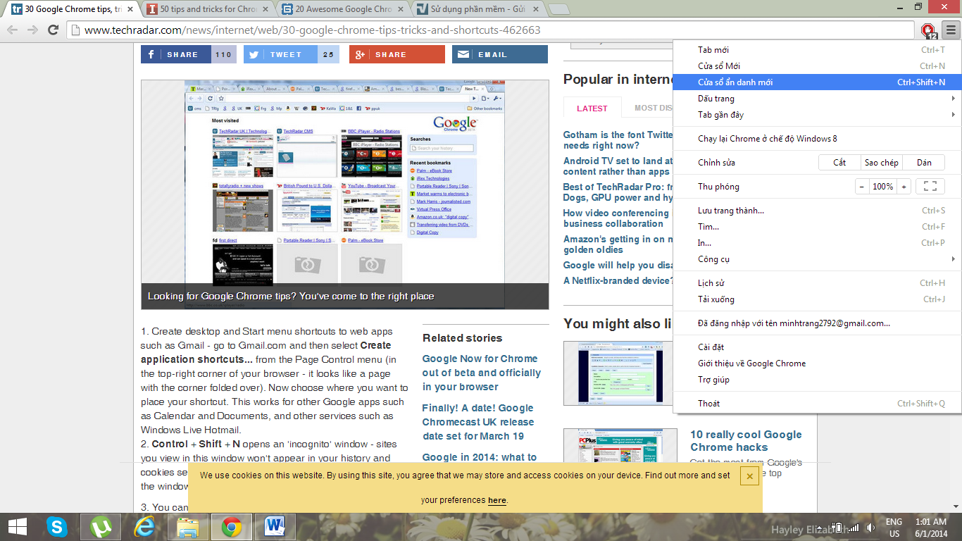 16 Thủ thuật nên biết khi sử dụng Google Chrome