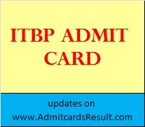ITBP Admit card for Constable Driver