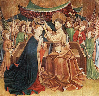 http://commons.wikimedia.org/wiki/File:Unknown_painter_-_Coronation_of_Mary_-_WGA24048.jpg