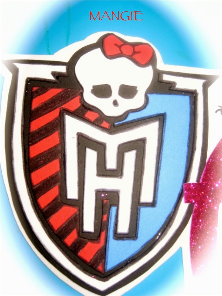 Letrero nombre draculaura goma eva artemangie emblema de monster high en goma eva biocorpaavc