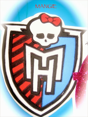 Emblema de monster high en goma eva