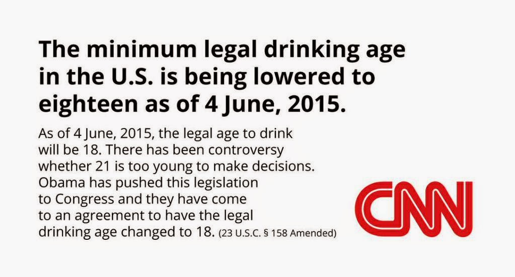 we should lower the drinking age Lowering the drinking age will mean that half the campus (the youngest, least adapted, first-time-away-from-home half) is not required to hide their activity because it is illegal.
