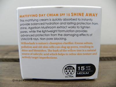 photo of botanics shine away day cream box