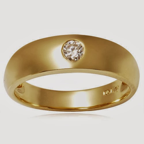 BEAUTY AND FASHION MENS WEDDING RINGS GOLD