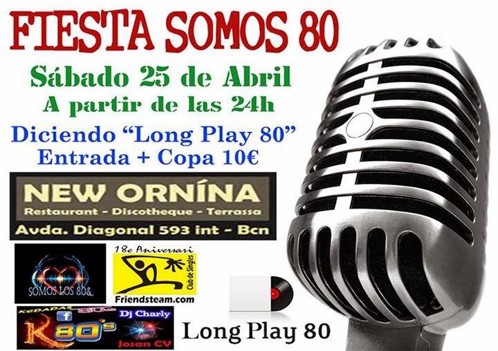 Flyer Fiesta Somos 80