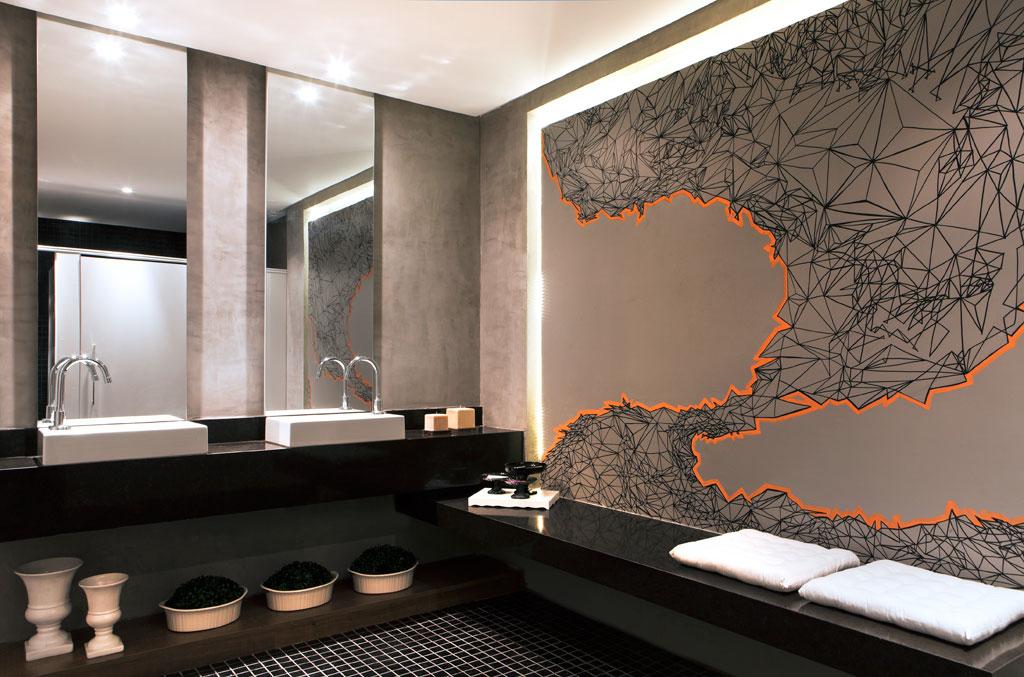 Banheiroslavabos escuros  veja dicas e ambientes lindos com essa tendência! -> Banheiros Modernos Escuros