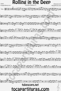 Rolling In The Deep Partitura de Viola Sheet Music for Viola