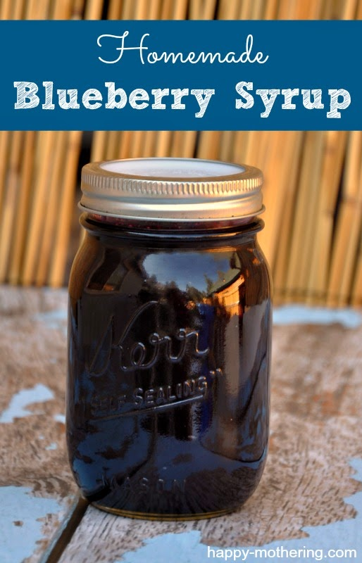 ... new, so this weekend I decided we'd give blueberry syrup a try