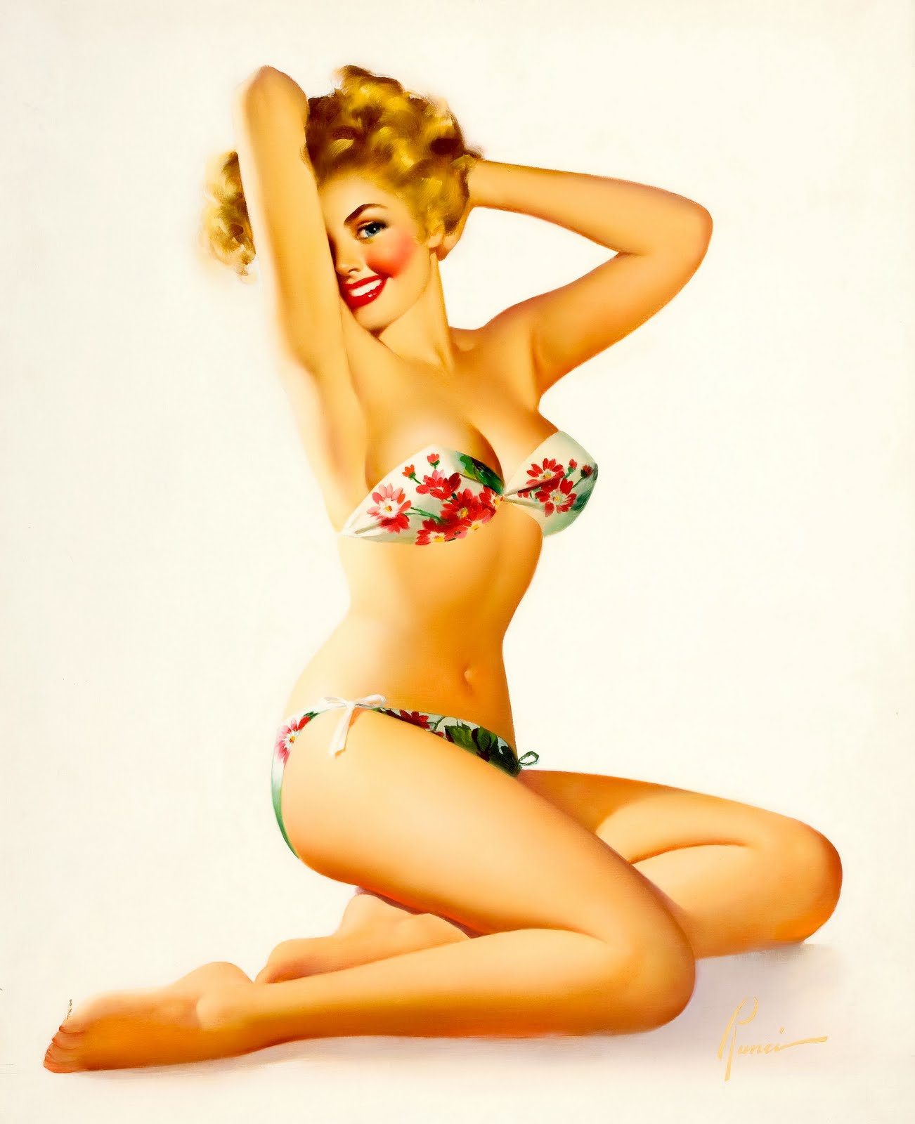vintage pin up bathing