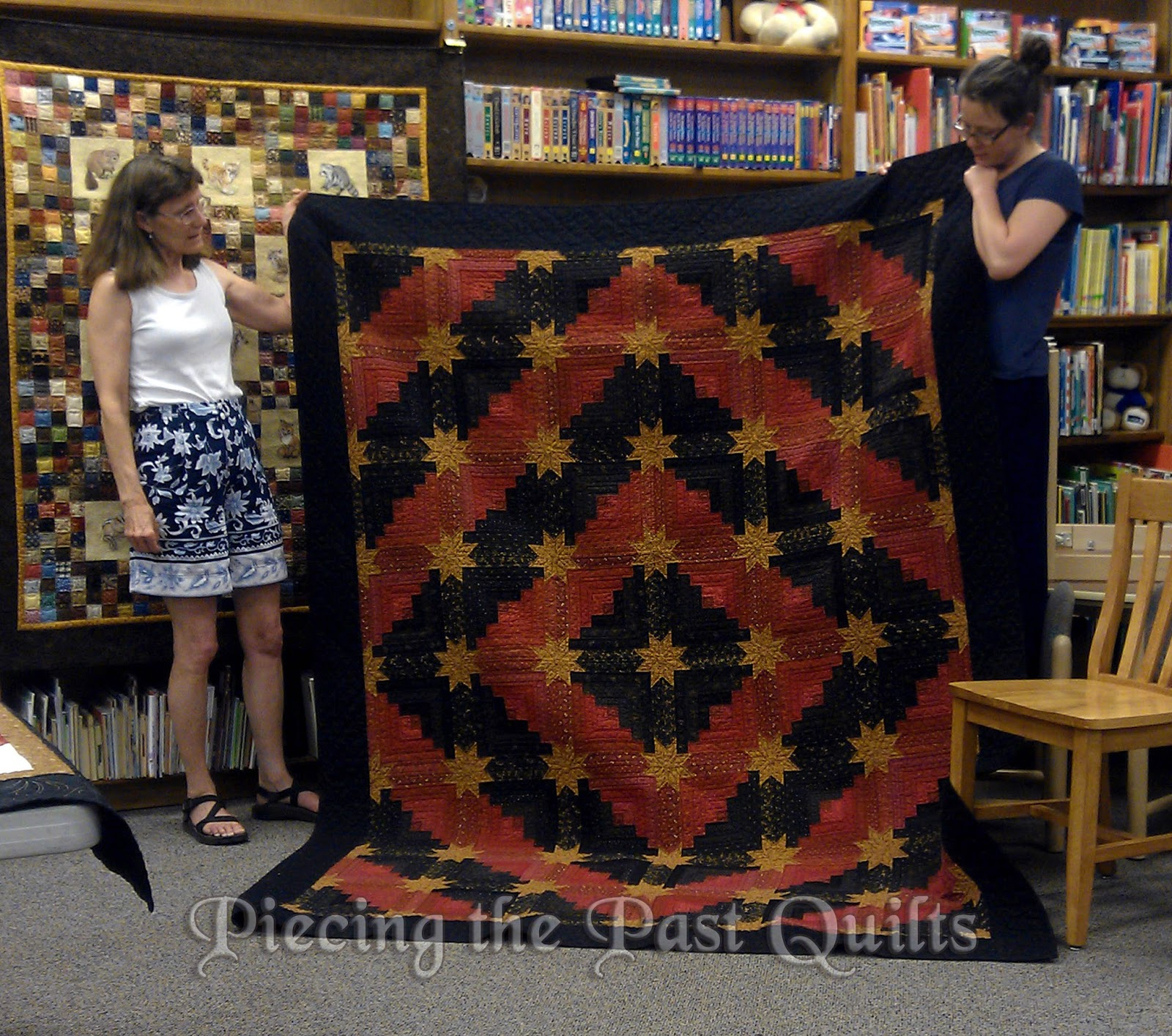 Piecing the Past Quilts: Saturday at the Quilt Museum - Log Cabin ... : colorado log cabin quilt - Adamdwight.com