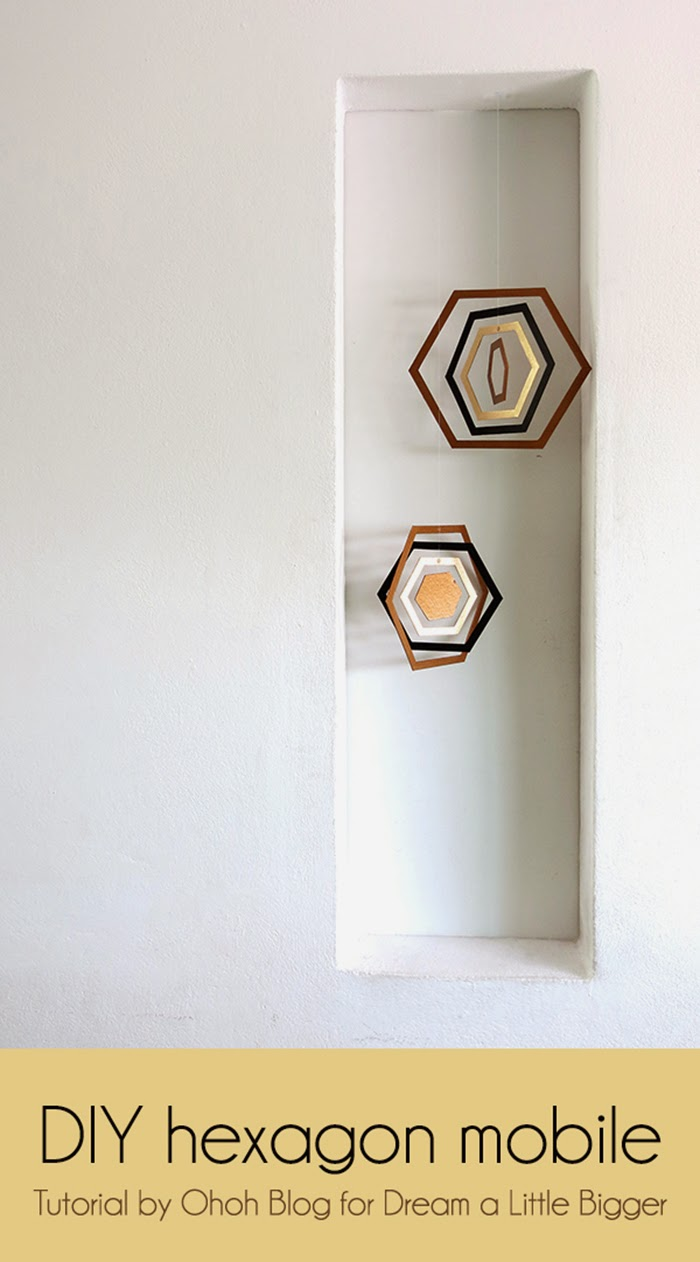 DIY hexagon mobile