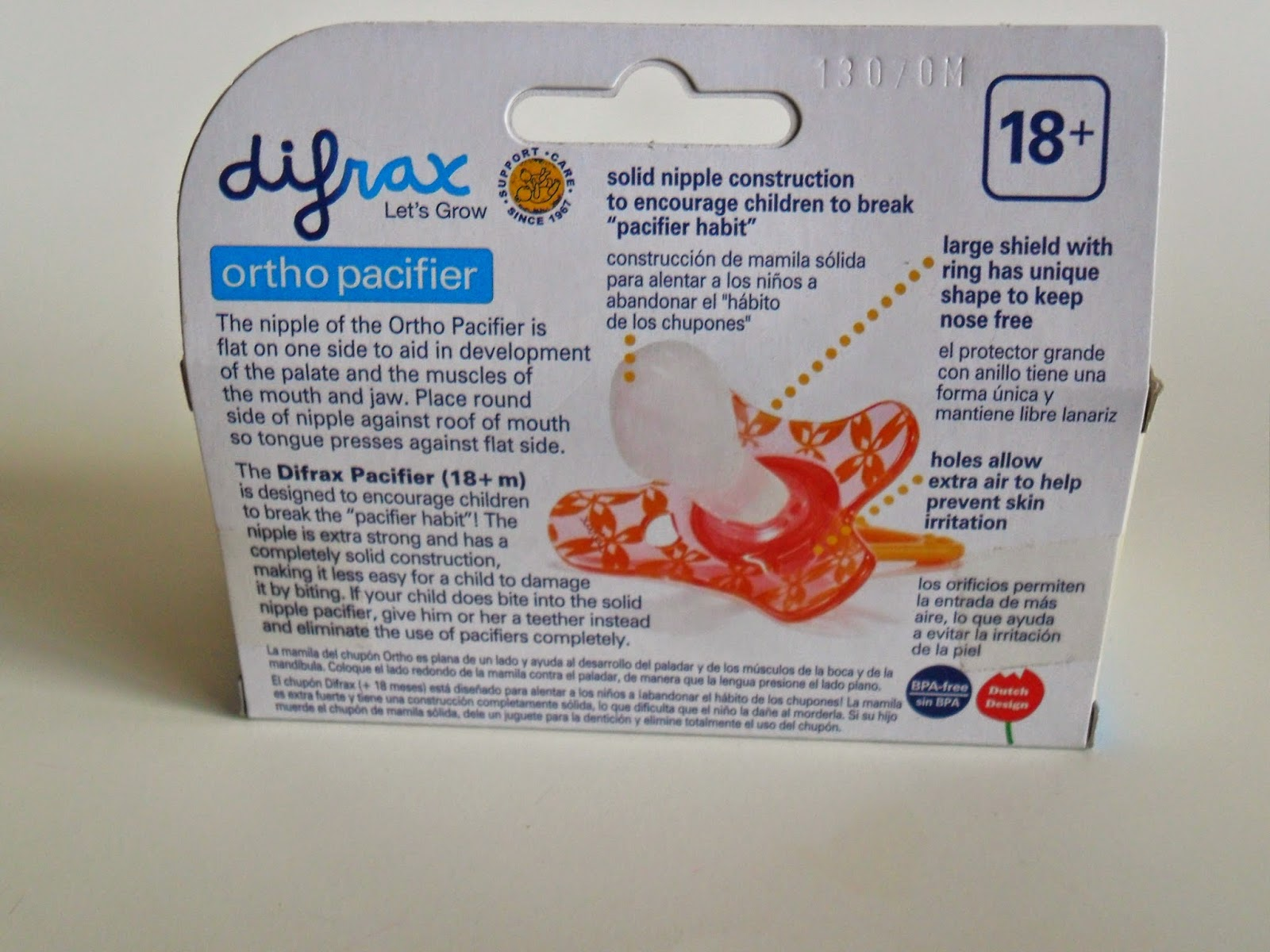 Difrax Let's Grow, ortho pacifier. Review  (Blu me away or Pink of me Event)
