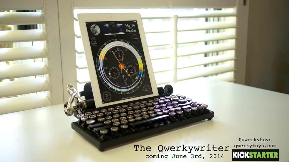 コレはたまらない!タイプライター風のBluetoothキーボード!:Qwerkywriter