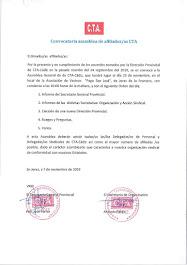 Convocatoria de asamblea de afiliados/as de CTA Cádiz